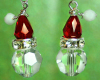 Santa Earrings - Crystal