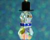 Snowman Pendant - Crystal Blue