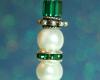 Snowman Pendant - Freshwater Pearl - Green