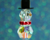 Snowman Pendant - Crystal Red