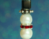 Snowman Pendant - Freshwater Pearl - Red