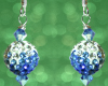 Christmas Ornament Earrings - Blue