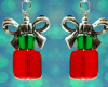 Christmas Present Earrings - Crystal
