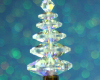 Christmas Tree Pendant - Clear Crystal