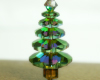 Christmas Tree Pendant - Green Crystal