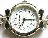 Black Onyx and Swarovski Bracelet Watch