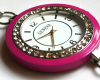 Hot Pink Swarovksi Crystal Bracelet Watch