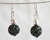 Black Swarovski Glitterball Earrings