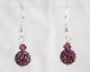 Dark Purple Swarovski Glitterball Earrings