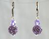 Lavender Purple Swarovski Glitterball Earrings