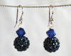 Midnight Blue Swarovski Glitterball Earrings