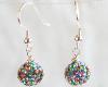 Multi-Color Swarovski Glitterball Earrings