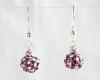 Multi-Purple Swarovski Glitterball Earrings