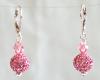 Pink Swarovski Glitterball Earrings