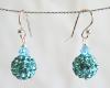 Sky Blue Swarovski Glitterball Earrings