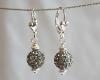 Silver Swarovski Glitterball Earrings