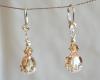 Citrine Colored Swarovski Crystal Earrings