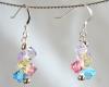 Multi Colored Swarovski Crystal Earrings