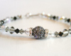Black and gray Swarovski Crystal Bracelet
