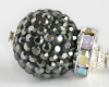 SUPER SPARKLY - Dark Gray Glitterball Necklace