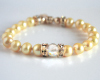 Yellow Freshwater Pearl and Swarovski Crystal Bracelet